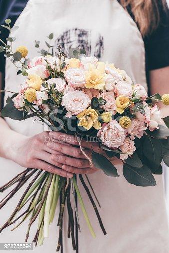 Florist arrangement beautiful bouquet for flowers delivery