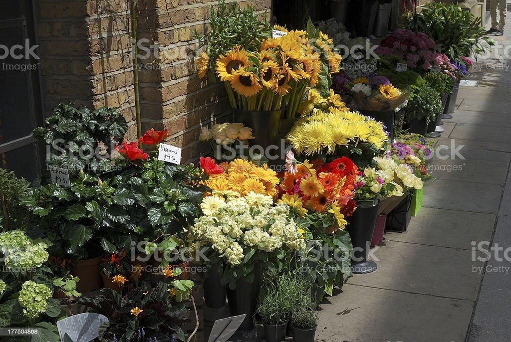 Florist shop in Southwark. London. England stock photo