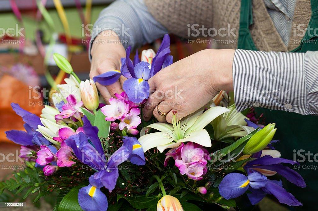 Florist working royalty-free stock photo