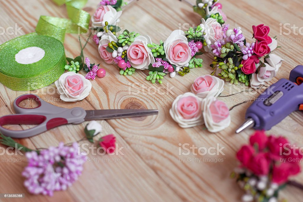 floristry handmade stock photo