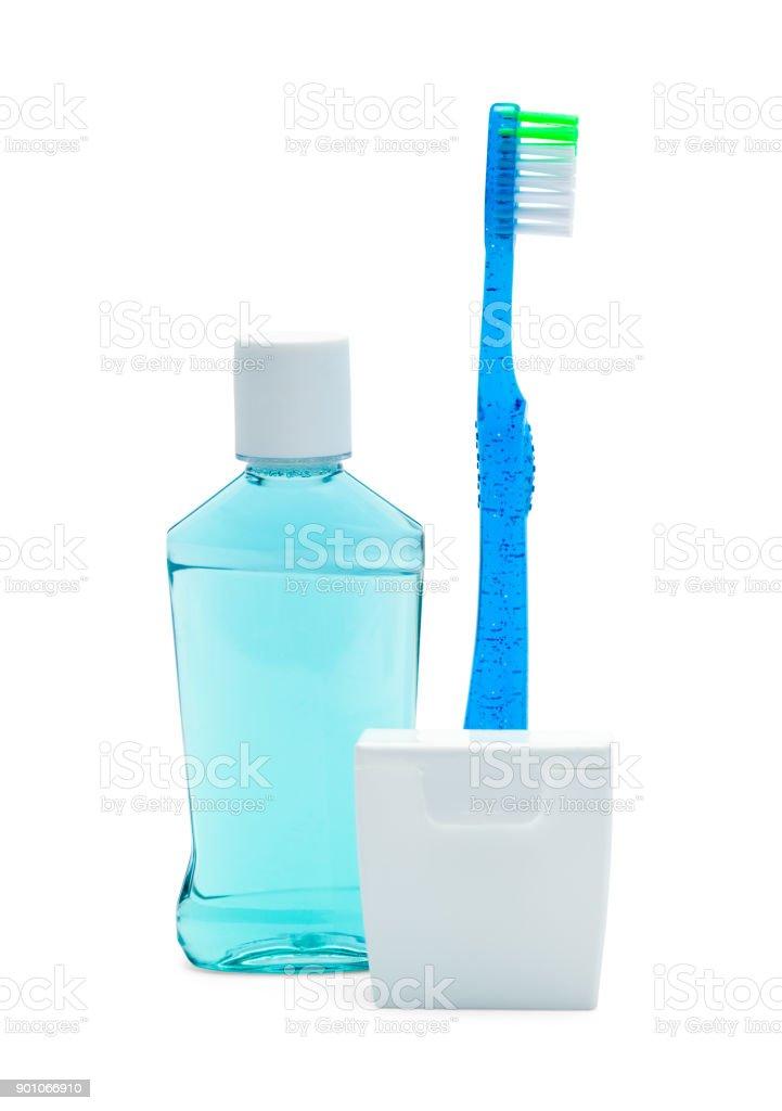 Floss Swish Toothbrush stock photo