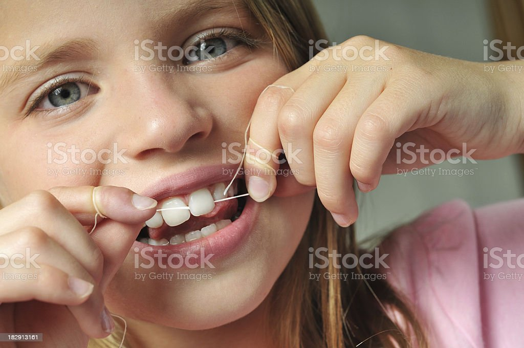 flossing royalty-free stock photo