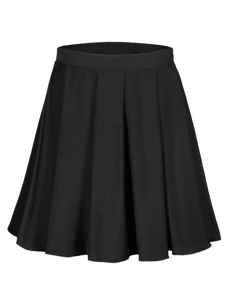 flounce black skirt isolated on white - spódnica zdjęcia i obrazy z banku zdjęć