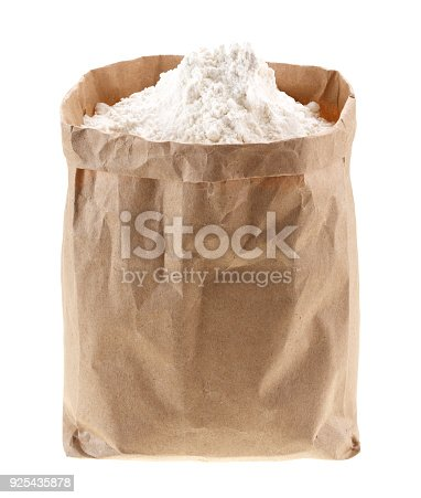 912671588istockphoto flour in Kraft paper-pack without labels 925435878