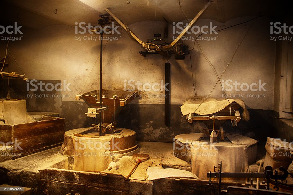 Flour mill stock photo