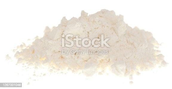 Flour isolated on white background
