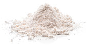 Flour. \nIsolated on a white background.