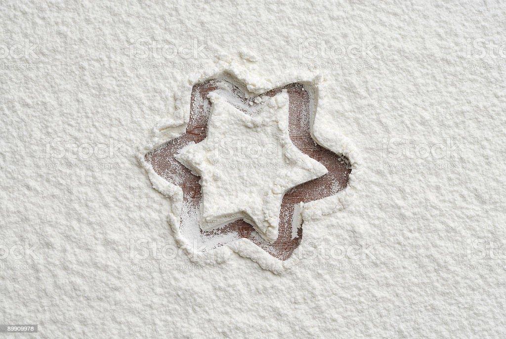 Flour shape number three royalty-free stock photo