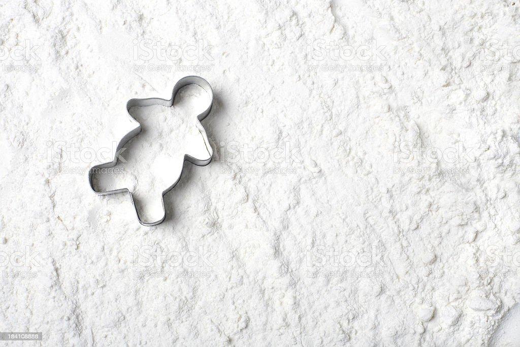 Flour Snowman royalty-free stock photo