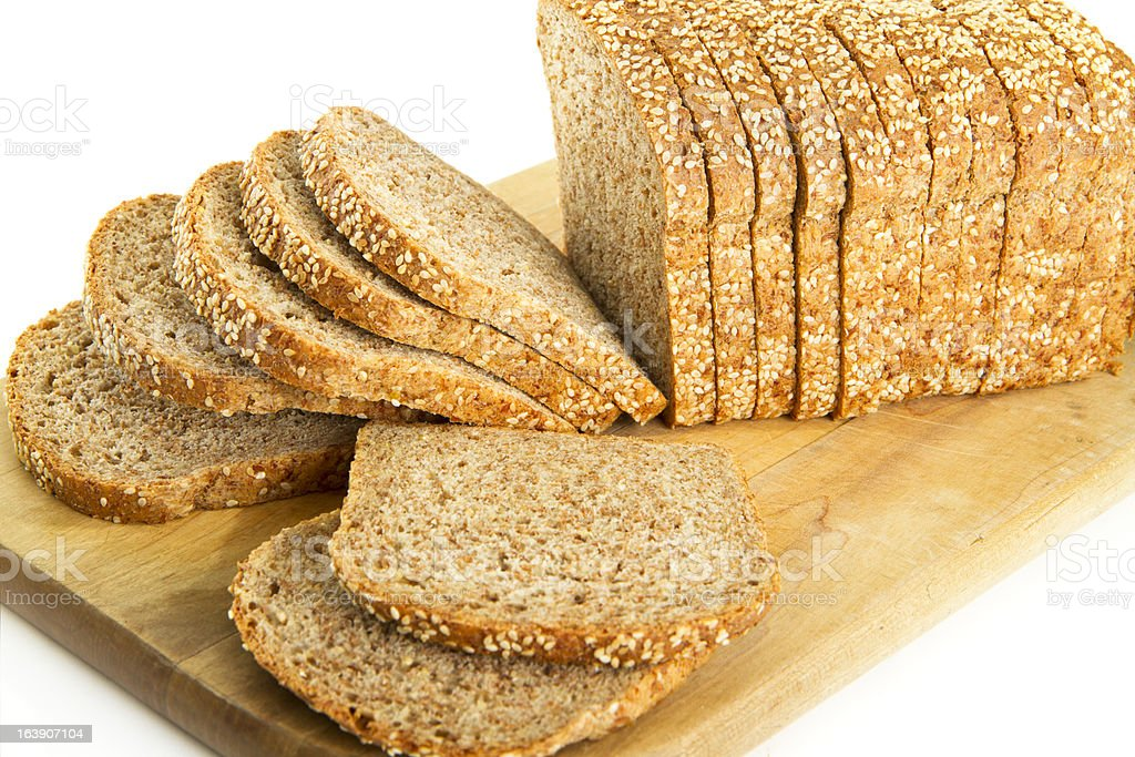 Flourless Organic Sprouted Grain Bread royalty-free stock photo