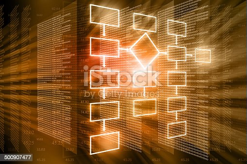 istock flow chart background 500907477