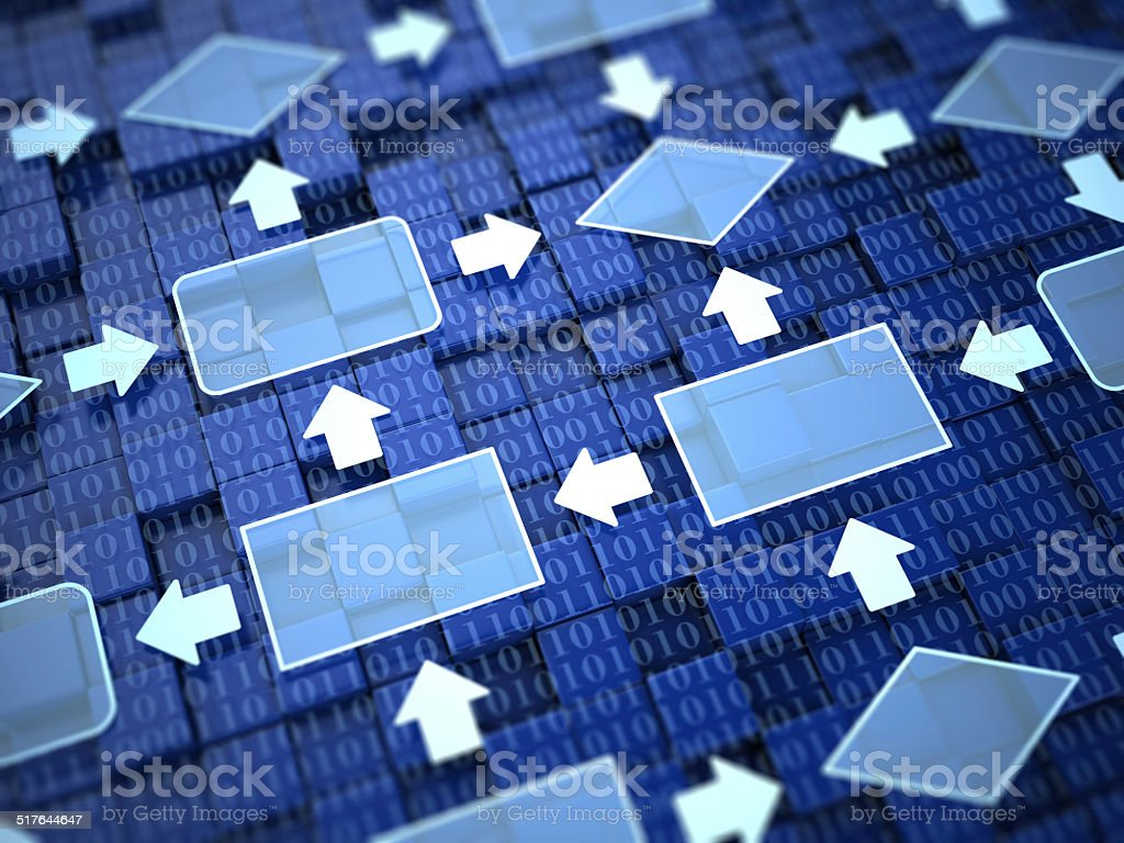 Flow chart concept stock photo