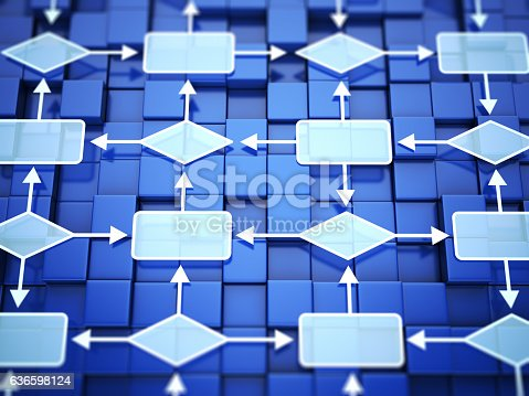 istock Flow chart concept 636598124