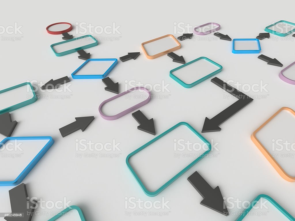 Flow Chart Diagram Concept stock photo