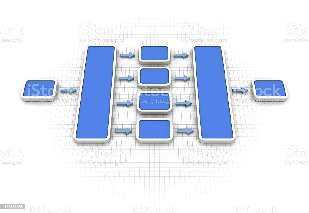 Flow Chart Diagram royalty-free stock photo