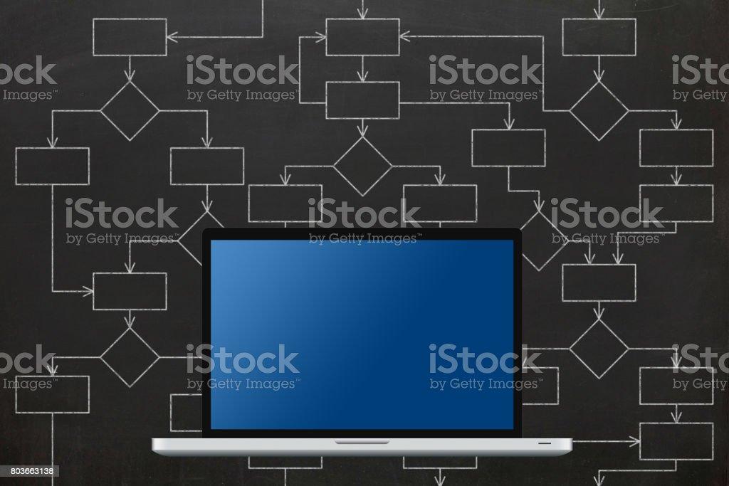 Flow Chart Strategy Diagram Computer Software Stock Photo Download Image Now Istock