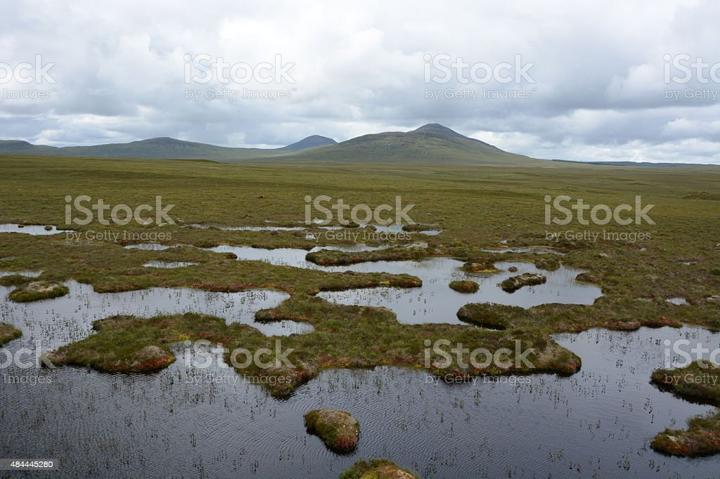 Flow Country Bog Land stock photo