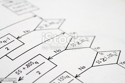 istock Flow diagram 182377744