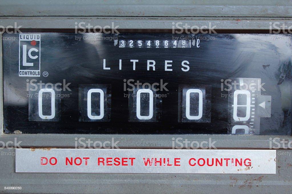 Flow meter count stock photo