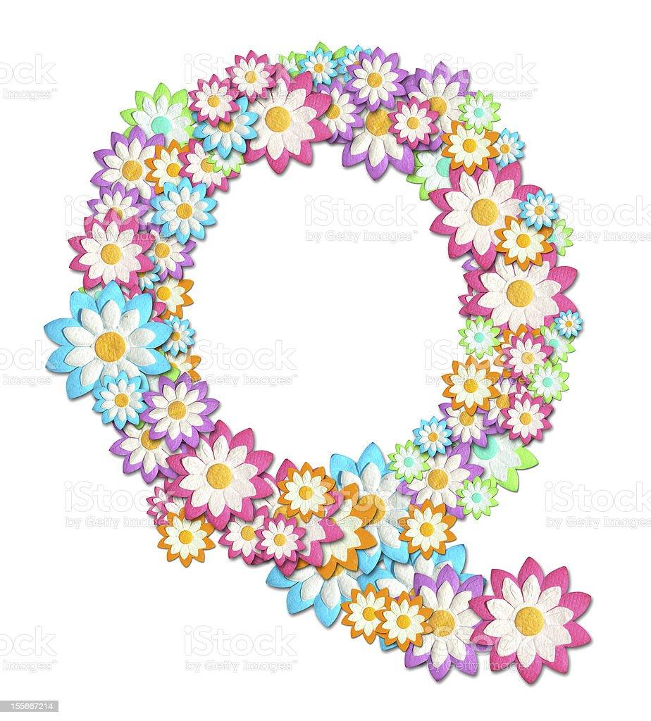 Flower Alphabet isolated on white background royalty-free stock photo