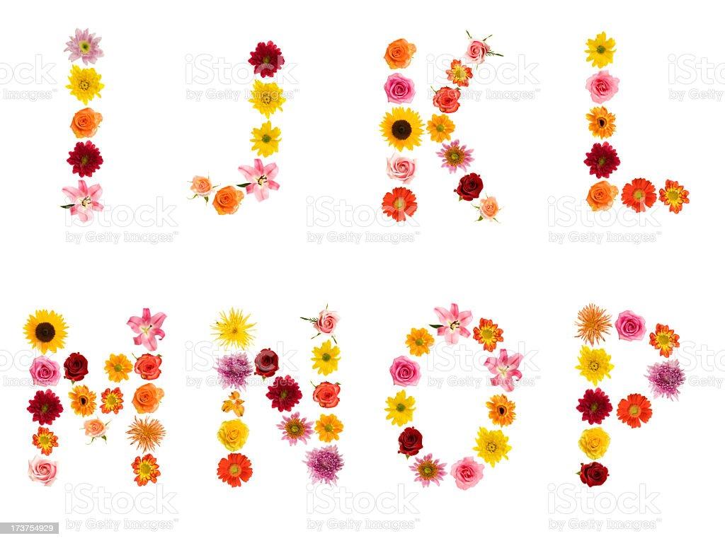 XXL Flower Alphabet royalty-free stock photo