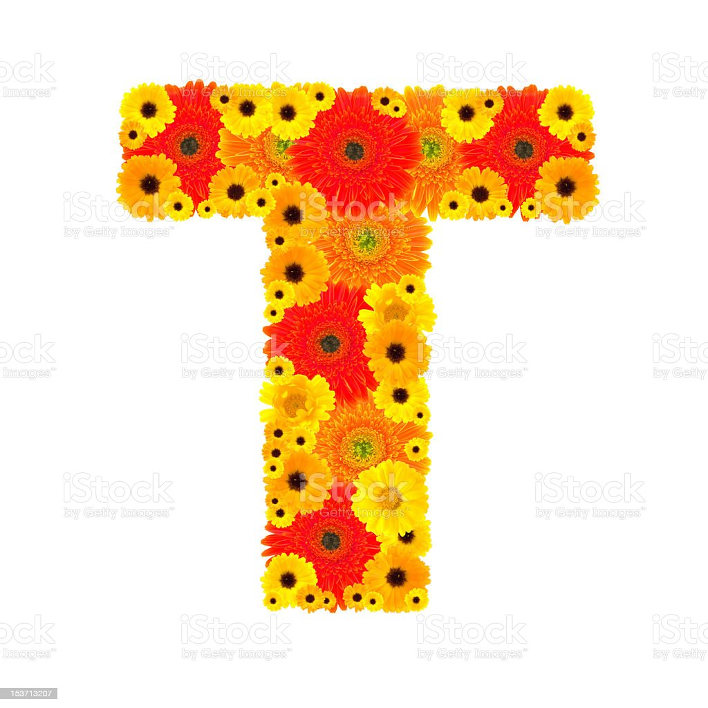 Flower Alphabet - T royalty-free stock photo