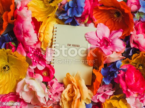 Flower and calender stay focused note book