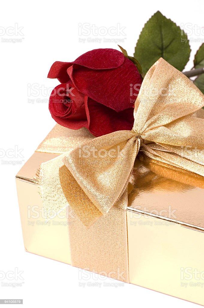 Flower and Chocolates stock photo