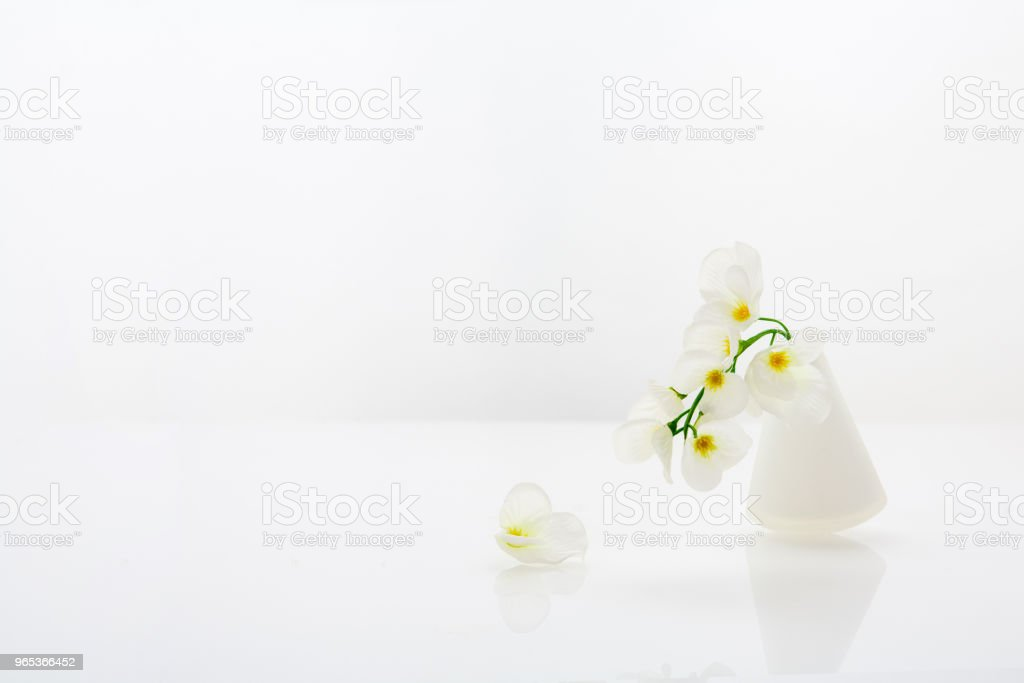 Flower and flower vase royalty-free stock photo