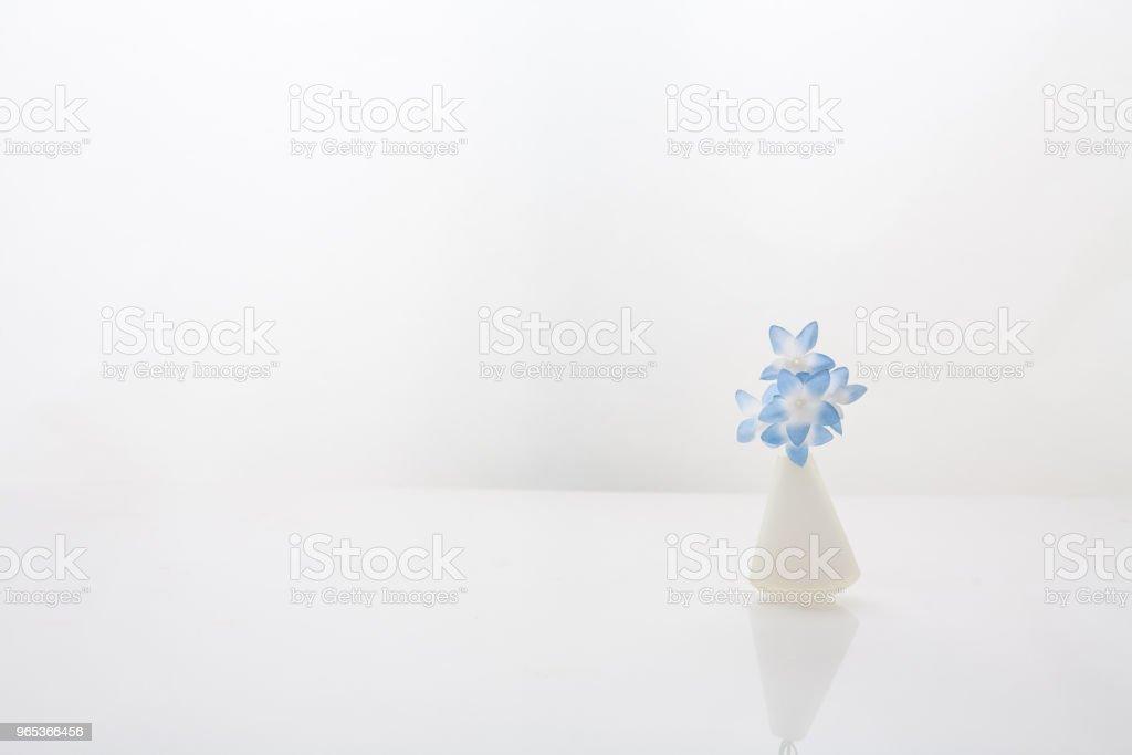 Flower and flower vase zbiór zdjęć royalty-free