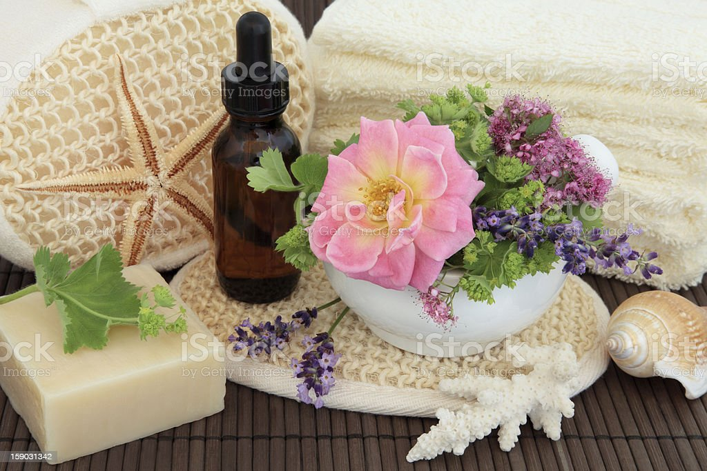 Flower and Herb Spa royalty-free stock photo