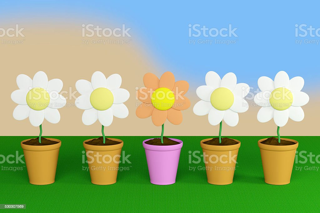 flower and pot stock photo