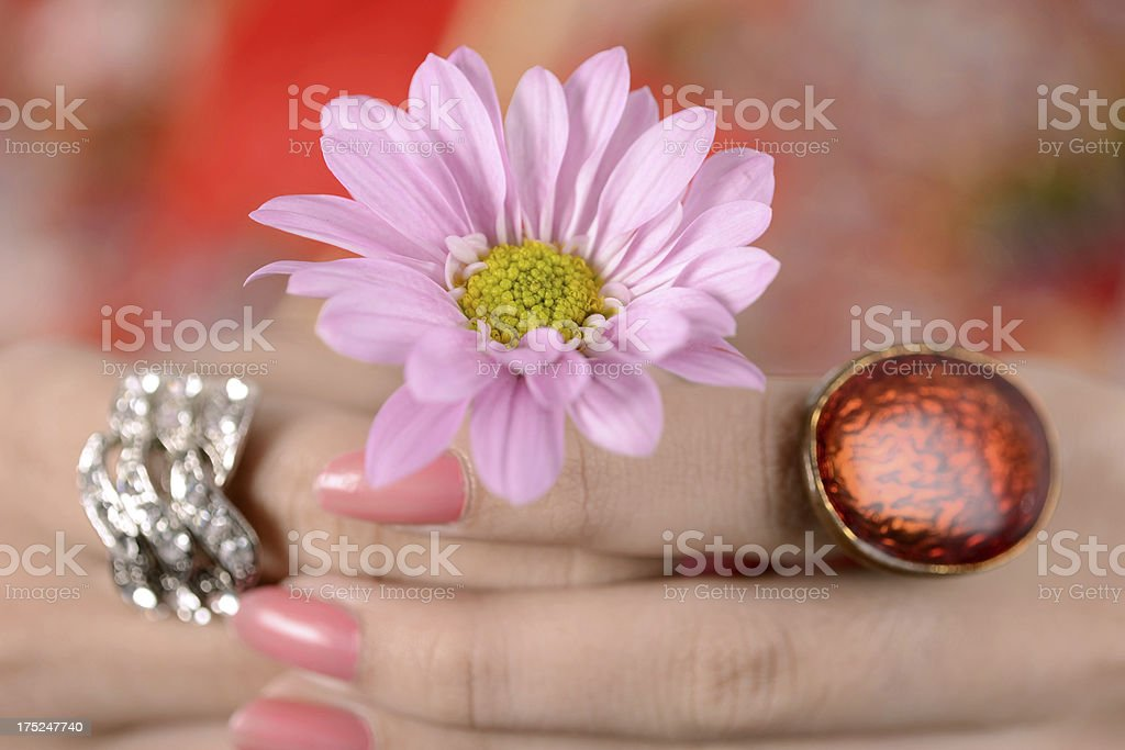Flower and ring royalty-free stock photo