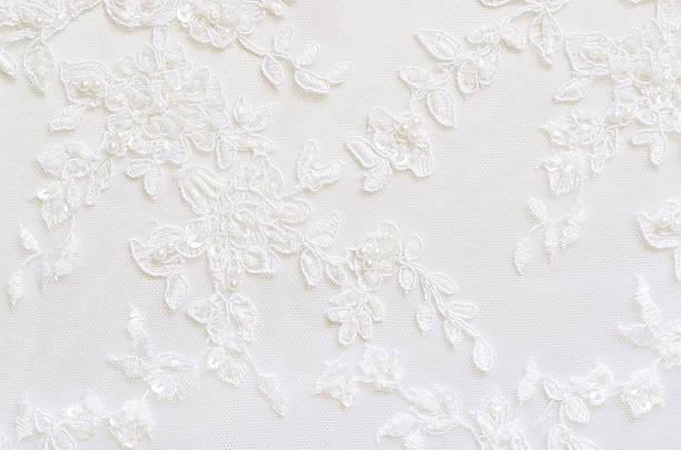 blanco boda de encaje - diseños de bodas fotografías e imágenes de stock
