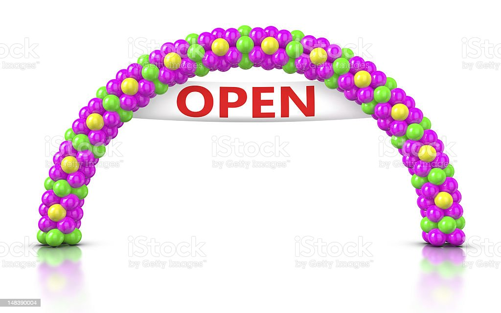Flower Arch Balloons - Opening Ceremony stock photo