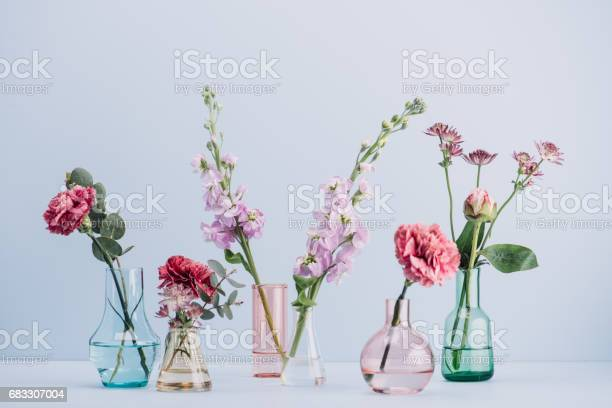 Flower arrangement in pastel