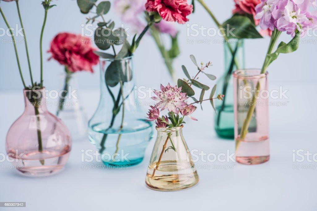 Flower arrangement in pastel foto stock royalty-free