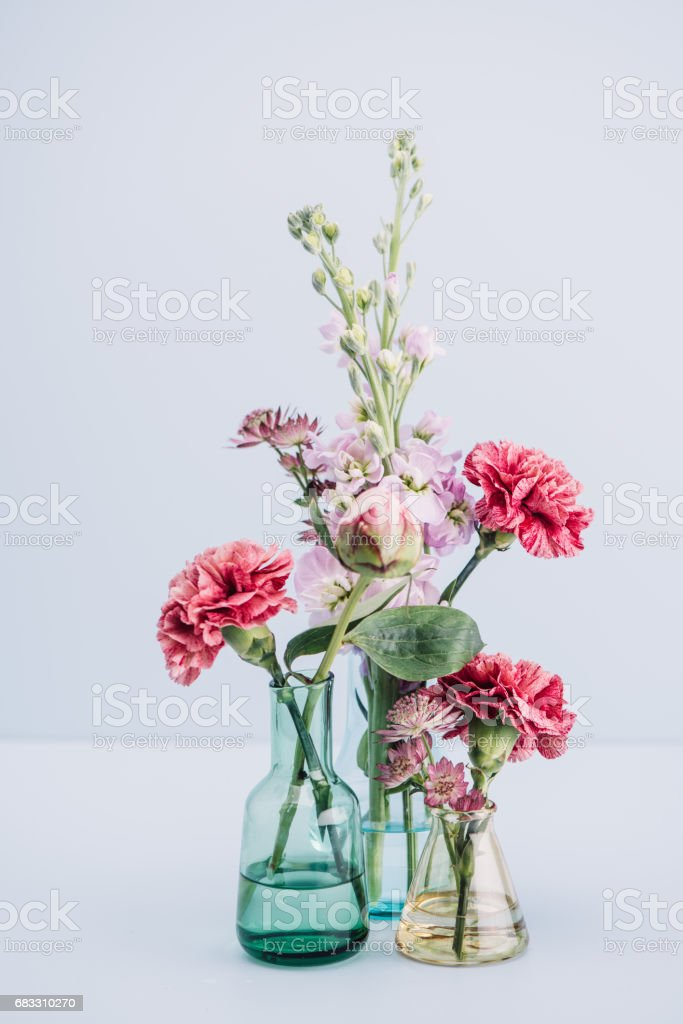 Flower arrangement in pastel zbiór zdjęć royalty-free