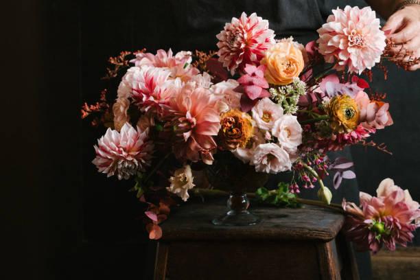 bloemstuk - boeket stockfoto's en -beelden