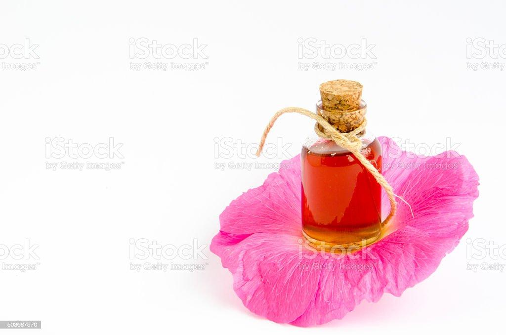 Flower attar aroma oils stock photo