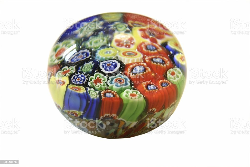 flower ball paperweight royalty-free stock photo