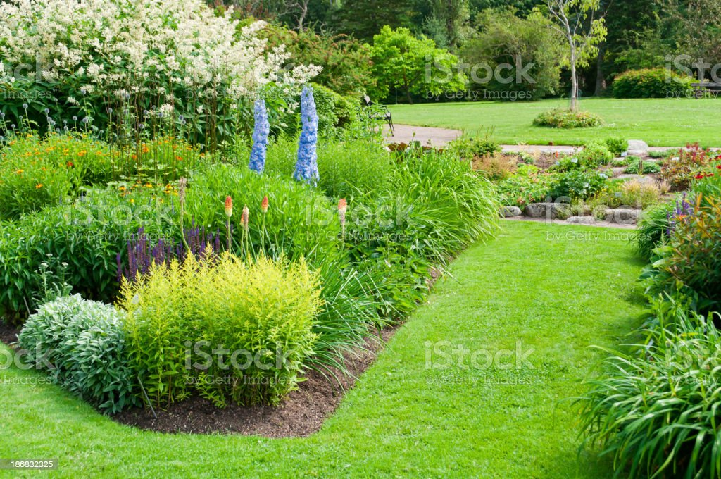 Flower beds in Botanical garden royalty-free stock photo