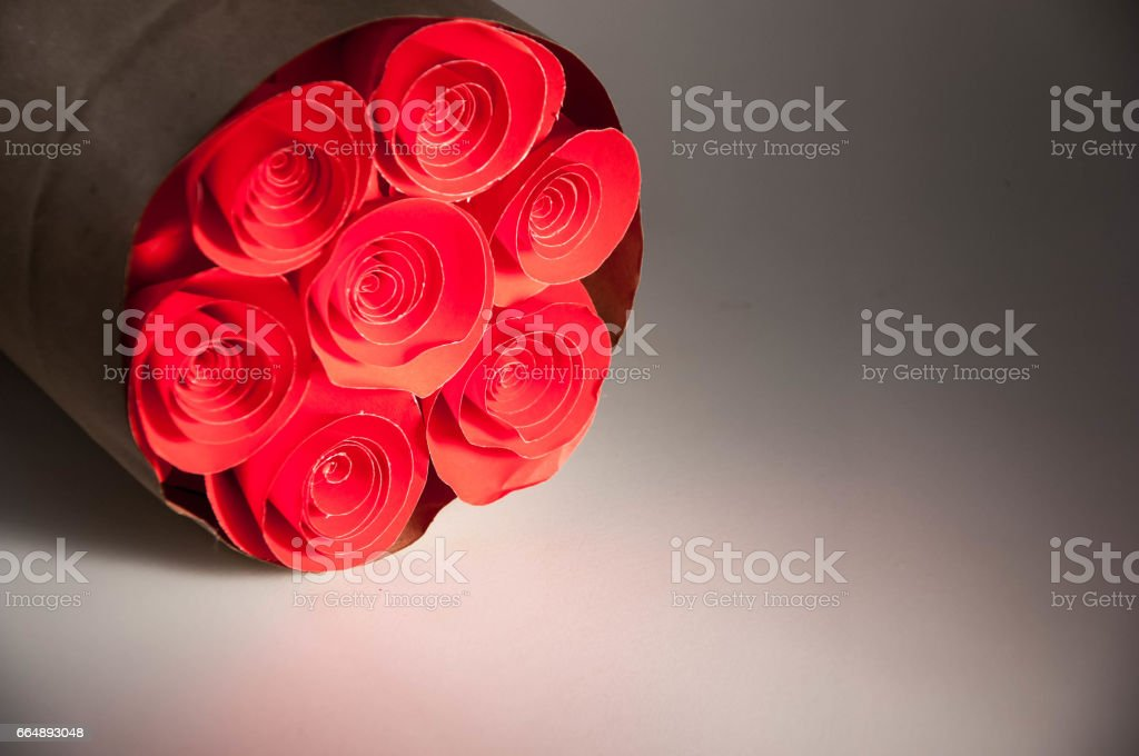 flower bouquet on white background. copy and space. foto stock royalty-free