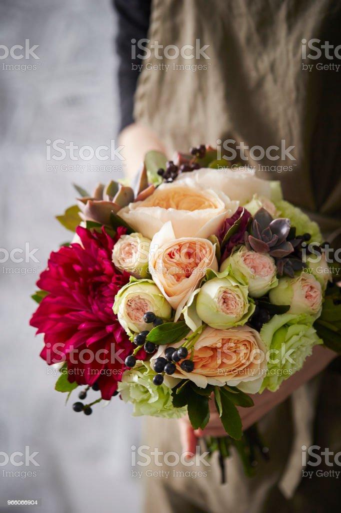 Bloemboeket - Royalty-free Alleen volwassenen Stockfoto