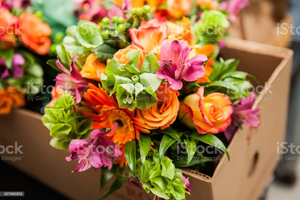 flower bouquet with rose stock photo