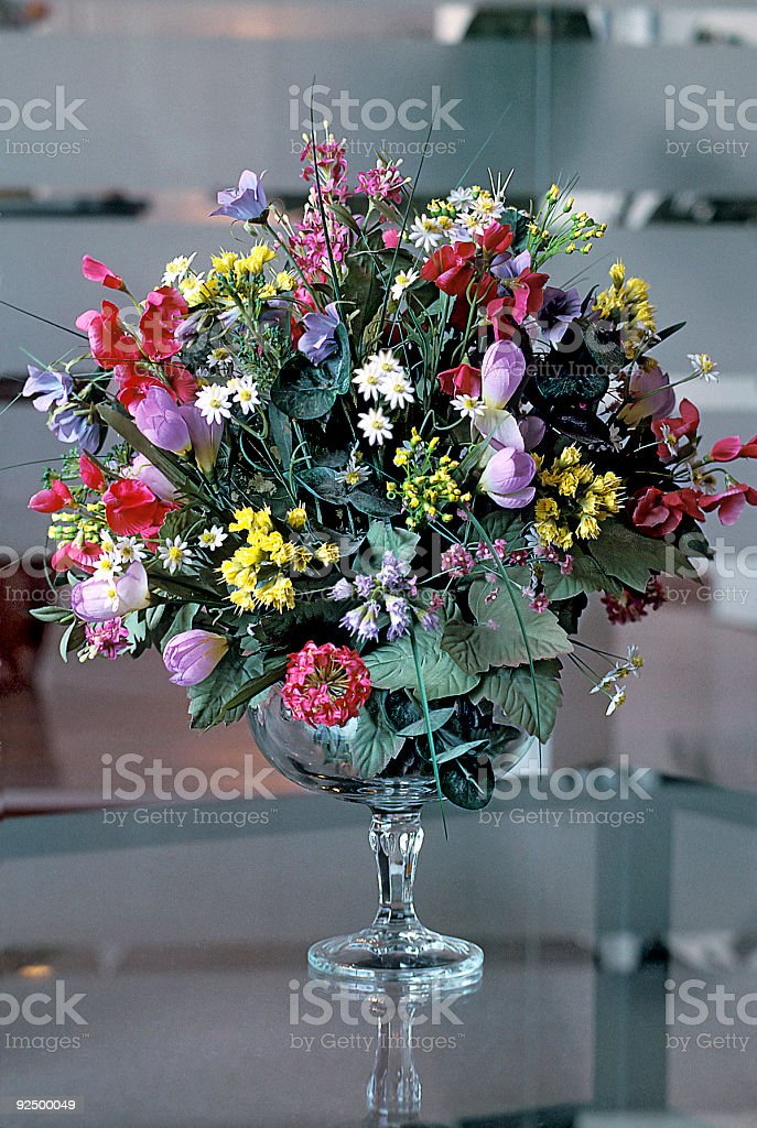 Flower bouquette in office royalty-free stock photo
