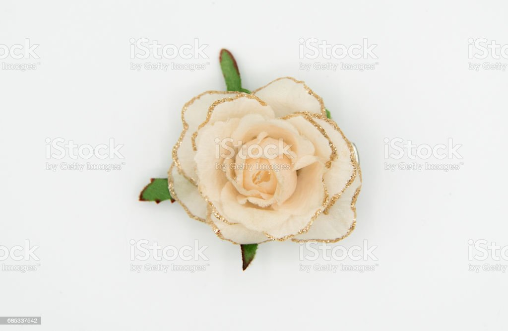 Flower brooch stock photo