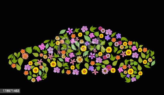 istock flower car Icon. Go Green, ecology concept, high resolution 178971463
