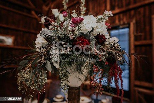 Vintage winter themed wedding in a barn in Wisconsin