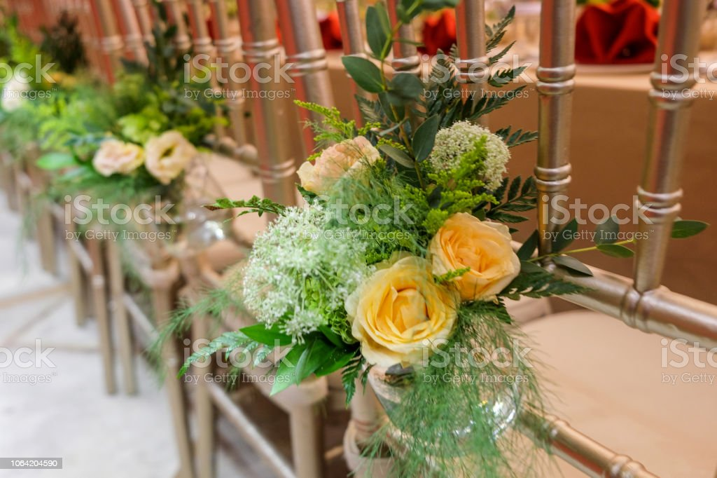 Flower Chair Decoration Ideas Stock Photo Download Image Now Istock